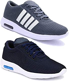 CAMFOOT Men Multicolour Latest Collection Sports Running Shoes - Pack of 2 (Combo-(2)-9064-11067)