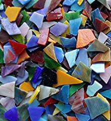 - The package included 1kg /35-ounce value pack Stained Glass - Great assortment of Colors – about 20-30 colors. Factory directly - Various shapes and grains – irregular shapes be nipped or cut into different sizes you needed. - Great for decorate fr...