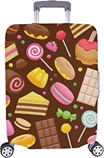 Assorted Sweets Colorful Seamless Lollipops Pattern Spandex Trolley Case Travel Luggage Protector Suitcase Cover 28.5 X 20...