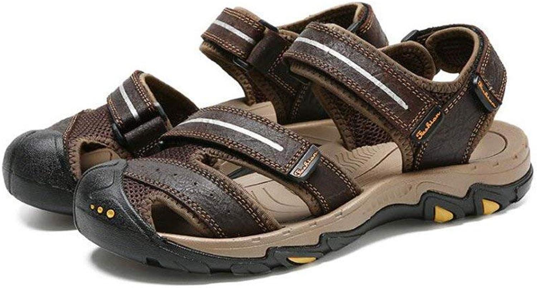 Fuxitoggo Herren Outdoor Sandalen Groe Gre Sport Wandern Sandalen Schützende Sommer Anti Kollision Schuhe (Farbe   B, Gre   40) (Farbe   B, Gre   39)