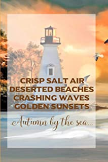 Sunset Lighthouse: a beautiful cream paged lined journal