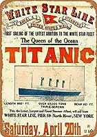 Titanic First Sailing 金属板ブリキ看板警告サイン注意サイン表示パネル情報サイン金属安全サイン