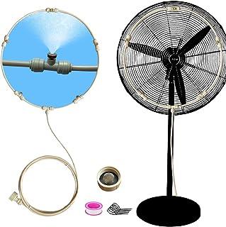 Meikelion Outdoor Misting Fan Kit Mist Cooling System Fan Kit for a Cool Patio Breeze 23FT (7M) Misting Line + 5 Copper Me...