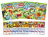 Leap Frog Learning Pack # 3 (Learn to Read at the Storybook Factory / Math Circus / The Amazing Alphabet - Amusement Park / Let's Go to School)