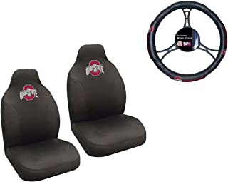 MULTI_B Ohio State University Buckeyes Seat Cover and Wheelcover with