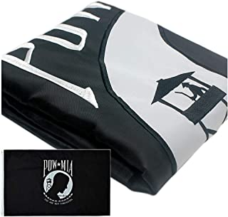 VSVO POW MIA Black Flag 3x5ft with 2-Sided Embroidered for Outdoor Use - UV Protected, 300D Nylon You are Not Forgotten Military Flag.