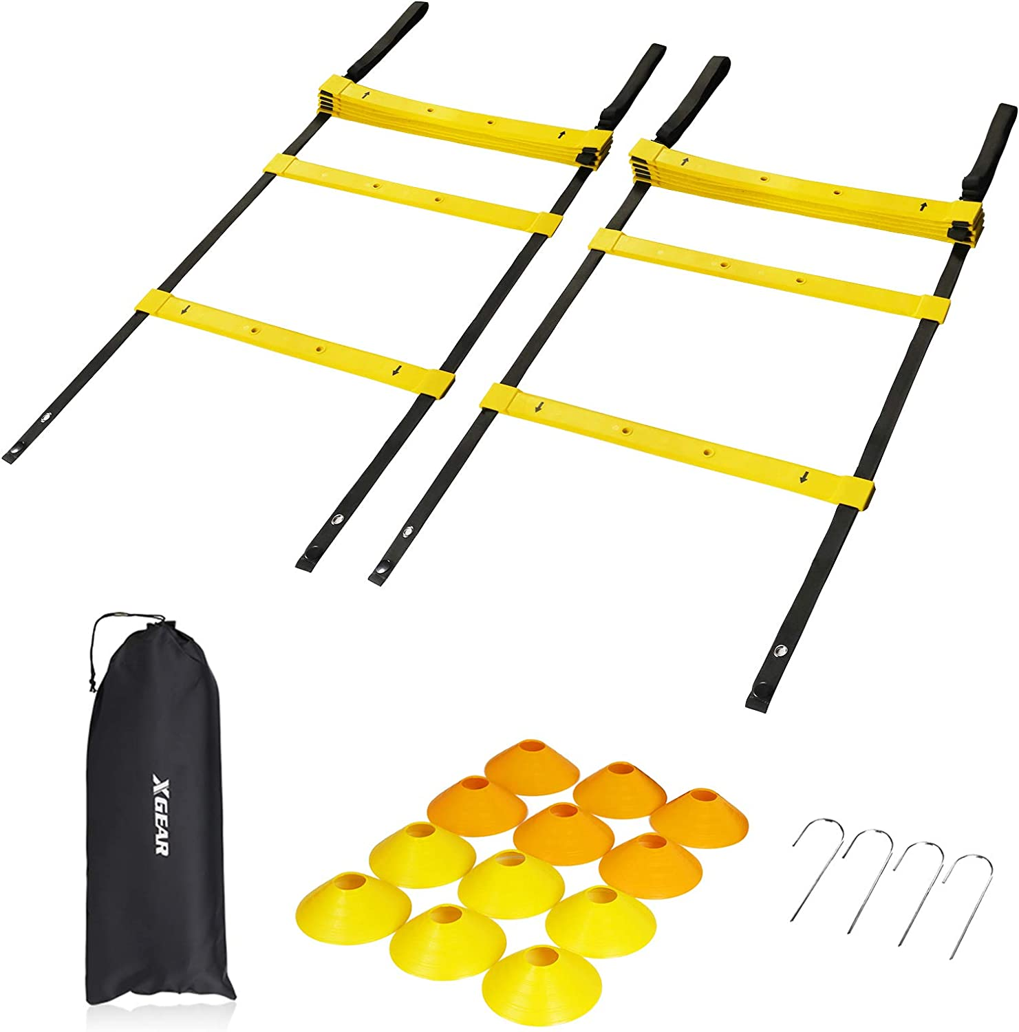 XGEAR Speed Agility Training Set Easy-to-use favorite TPE P with Resistance Ladder