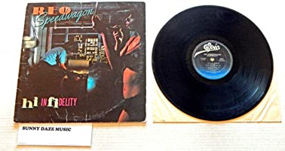 REO Speedwagon Hi Infidelity - Epic Records 1980 - A Used Vinyl LP Record - 1980 Pressing FE 36844 - Keep On Loving You - Don't Let Him Go - Take It On The Run - Tough Guys