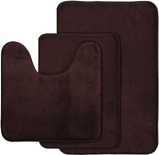 brown bathroom mats