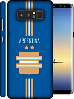 Colorking Samsung Note 8 Football Blue Case Shell Cover - Fifa Argentina 01