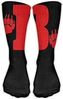 靴下 抗菌防臭 ソックス ユニセックスクラシック靴下ベアーの足のスポーツストッキング30 cmロング靴下1サイズ