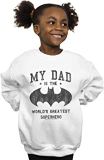 DC Comics Girls Batman My Dad Is A Superhero Sweatshirt