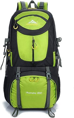 PQG Sac à Dos Sac de Sport en Plein air 60L Sac d'alpinisme randonnée Camping Sac à Dos Sac de Voyage Sac à Dos