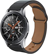 Haojavo Leather Watch Band for Samsung Galaxy Watch 46mm, Quick Release Top Leather Watch Band for Samsung Gear S3 Classic/Frontier Huawei Watch 2 Classic Smartwatch & Traditional Watch Strap 22mm