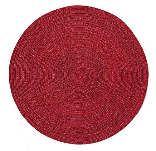 Pichler Tischset Platzset Samba rund ca. 38cm in rot (bordeaux)