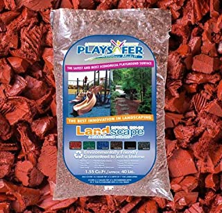 Playsafer Red Rubber Mulch 77 Cu. Ft. - 2000 Lbs. Pallet - 50 Bags