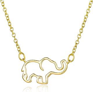 Best gold elephant pendant necklace Reviews