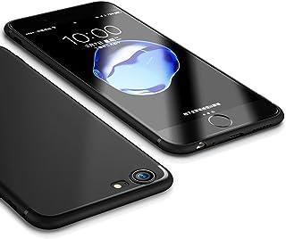 iPhone SEケース 第2世代 iPhone 8 ケース/iPhone 7 ケース 2020 新型【IMANOM】アイフォン7ケース スリム・薄型ケース ソフト 黒 TPU おしゃれ 人気 ストラップホール付き 指紋防止 アイホン耐衝撃ケー...