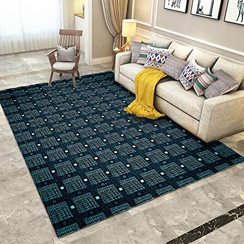Europäische Retro Einfache Quadratische Druck Bodenmatte rutschfeste Saugfähige Couchtisch Sofa Teppich Schlafzimmer Wohnzimmer Hotel Bed & Breakfast Party Teppich