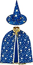 Jackcell Wizard Cape Witch Cloak with Hat, Halloween Costume Props for Kids Cosplay Party