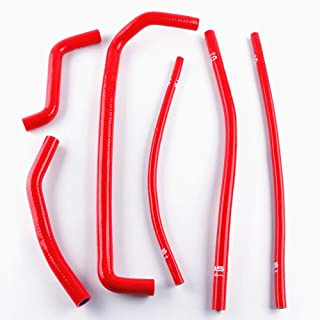 FidgetKute Red Silicone Cooling Radiator Hose Pipe Set for Can Am DS450 DS 450 2008-2015
