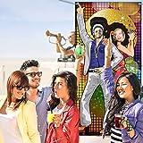 70 Jahre Tanzen Party Dekoration 70 Jahre Foto Tür Banner Hintergrund Requisiten, Große Foto Hintergrund für 70 Jahre Thema Party Dekor Disco Thema Party Lieferungen mit Seilen - 2
