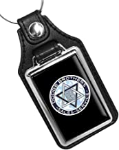 Dodge Brothers Sales and Service Vintage Emblem Design Emblem Faux Leather Keychain Key Holder Key Ring for Men Heavy Duty Car Keyring for Men and Women