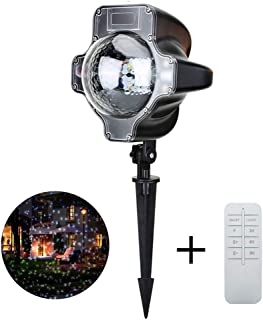 Agelloc Moving Snowflakes Projector Light, 3.6W LED Projection Spotlight Lamp for Home Party, Bar, Disco, Halloween, Christmas