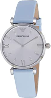 Emporio Armani Womens Quartz Watch, Chronograph Display and Leather Strap AR1928
