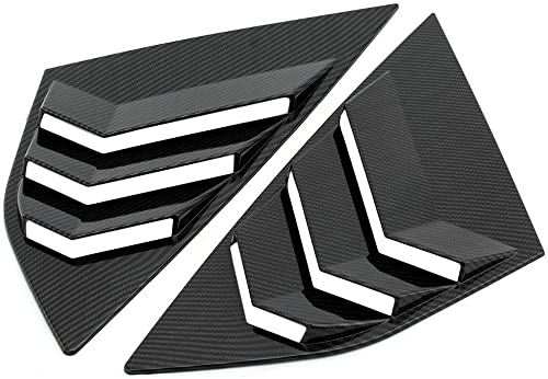 KKmoon Rear Window Louvers, Car Rear Window Blinds Side Tuyere Louvers Vent, for Ford Focus ST RS MK3 Hatchback, Carb...
