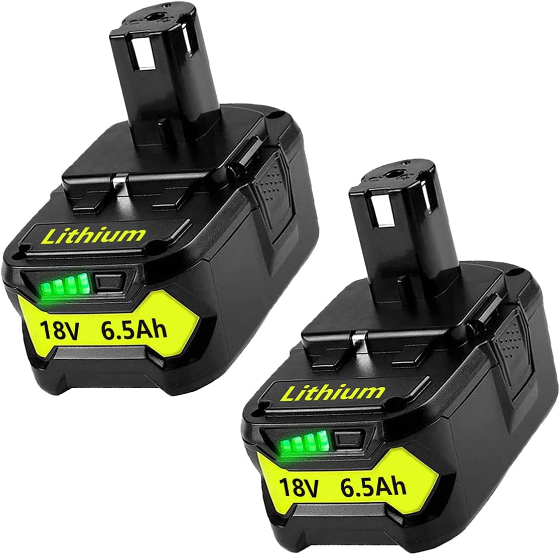 2Pack 6.5Ah High quality P104 P108 18V Ryobi Com Replacement for Battery All items in the store
