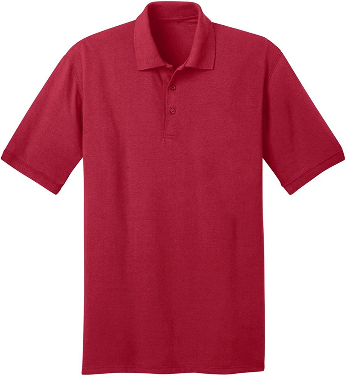 Port & Company Tall 5.5 oz Jersey Knit Polo Shirt-2XLT (Red)