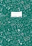 HERMA 19406 Heftumschlag DIN A4 SCHOOLYDOO, Hefthülle mit Beschriftungsetikett, aus strapazierfähiger und abwischbarer Polypropylen-Folie, Heftschoner für Schulhefte, grün