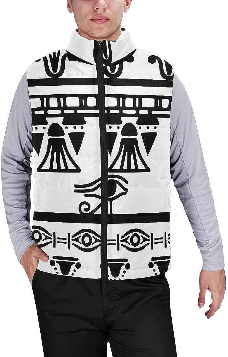 InterestPrint Men's Full-Zip Soft Warm Winter Outwear Vest Trefoil Leaves