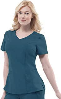 healing hands Purple Label Women's Jordan 2172 Mock Wrap Scrub Top Scrubs
