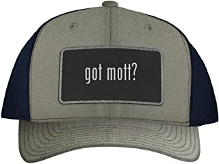 got mott? - Leather Black Metallic Patch Engraved Trucker Hat