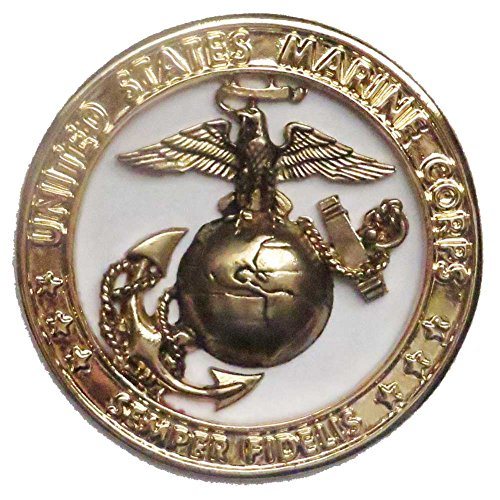 US Marine Corps Brass Emblem, 4 Inch Diameter