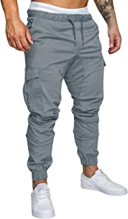 Yidarton Men`s Cargo Pants Slim Fit Casual Jogger Pant Chino Trousers Sweatpants