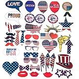 4 º De Julio Photo Stand Apoyos Patriótica Del Partido El Día De La Independencia Americana Decoración De Fiesta 40Pcs