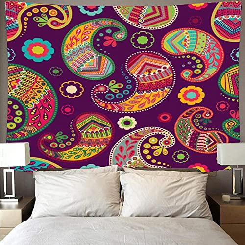 Tapiz de estilo bohemio retro arte mandala tapiz psicodélico colgante de pared toalla de playa manta tela colgante A4 180x200cm