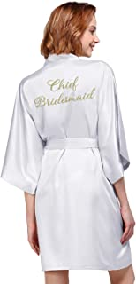 Personalized Robe Silk Satin Wedding Bride Bridesmaid Gift Custom Monogrammed