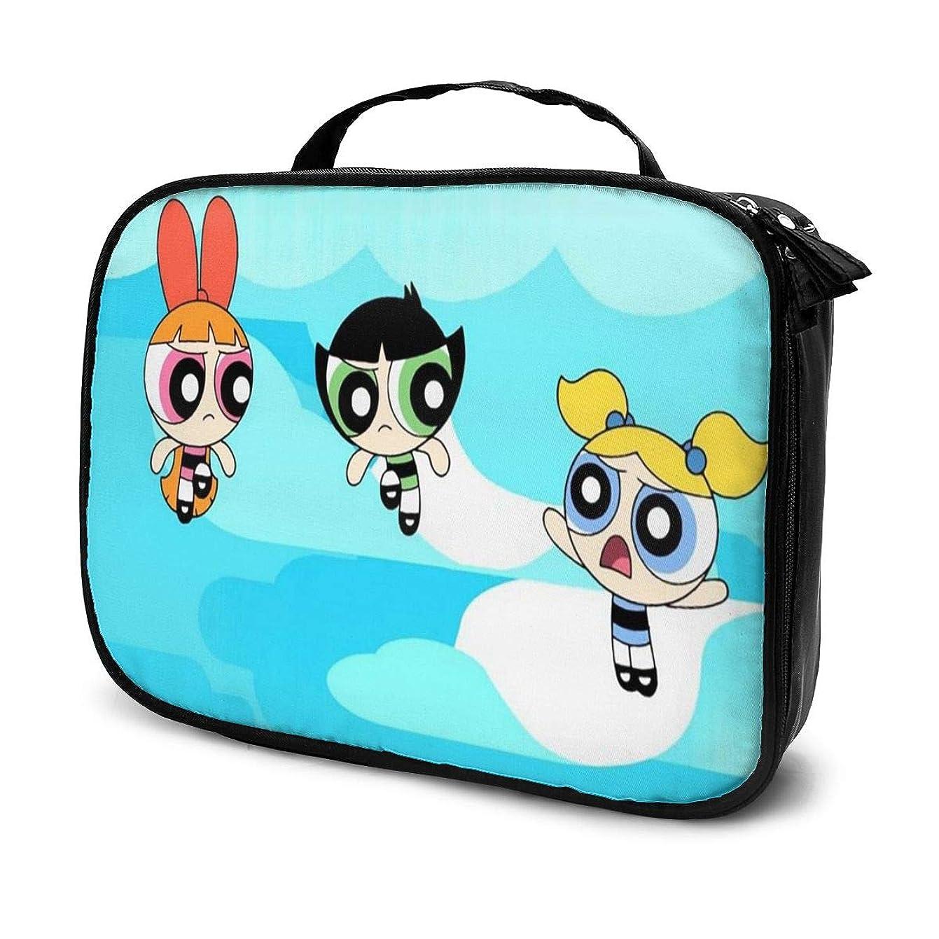 電話に出るうれしい極めてDaituパワパフガールズ 化粧品袋の女性旅行バッグ収納大容量防水アクセサリー旅行