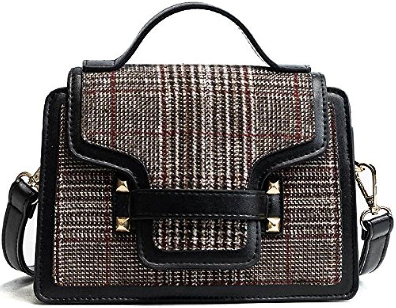 YTTY Überprüfen Sie Das Quadratische Paket Retro Schulter Schulter Schulter Messenger Bag Handtaschen, Streifen B07916NLY4  Aktuelle Form 5d9971