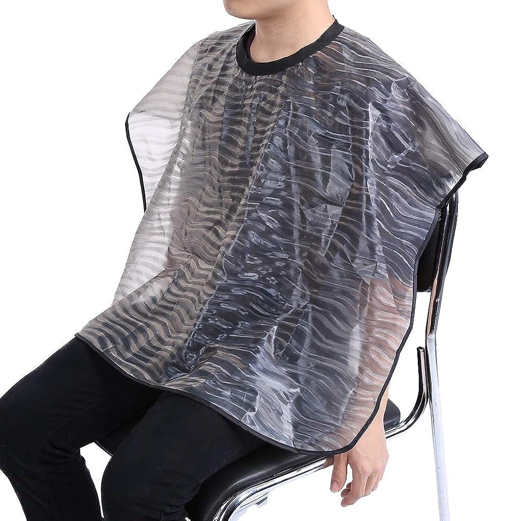ミス感心する無視できる2サイズ 防水 再利用可能 サロン 理髪布 耐久 ヘアスタイリスト ガウンバーバーケープ(01)