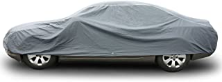 "COPAP Thick Lining Car Cover Size XL PVC w/ Non-woven Fabric Paint Safe Universal Full Size Sedan Fits up to 190"" All Weather Water/Dust Proof UV Resistant (Storage Bag included)"