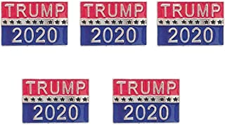 BinaryABC Trump 2020 President Election Brooch Pins,2020 Presidential Election Favors,Election Day Decorations,5Pcs