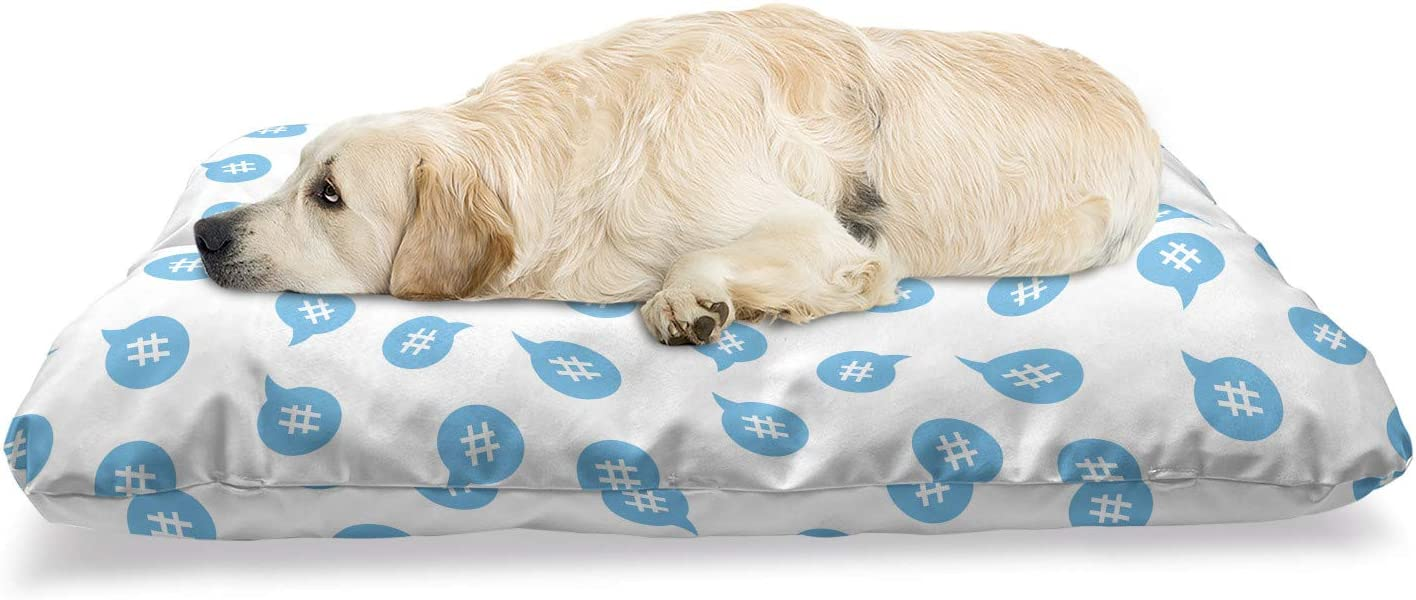 Lunarable Abstract Pet Bed Monochrome Repetitive Pattern Hashta Max 42% Ultra-Cheap Deals OFF