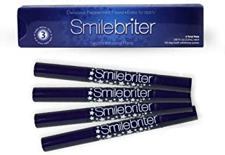 Smilebriter Teeth Whitening Gel Pens - Extra Strength Whitening Gel - Easy At Home Teeth Whitening Kit - Organic, Non-Toxic and Cruelty-Free - 4 x Brush On Teeth Whitening Pens