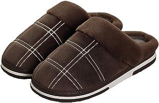 LQLD Chaussures Grande Taille Accueil Extra, Hommes Non-Slip Hiver Au Chaud Super Big Pied Coton Chaussons avec TPR Matéri...