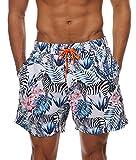Minetom Uomo Costume Da Bagno Pantaloncini Corti Bermuda Shorts Casual Estate Moda Elastico Nuoto Spiaggia Mare Piscina Boxershorts Coulisse Zebra EU S